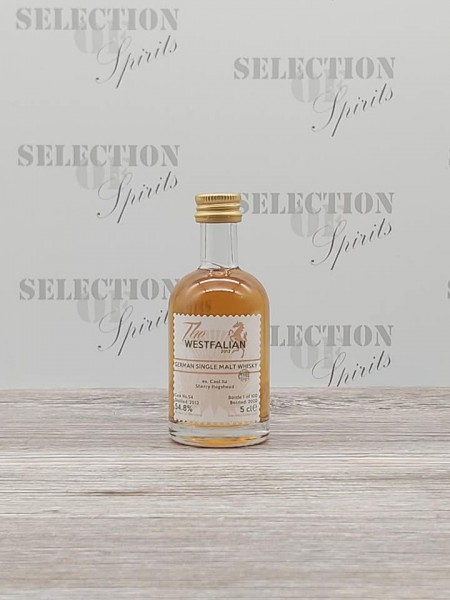 THE WESTFALIAN 2013/2020 Cask 54 Miniatur German Single Malt ex.Caol Ila Sherry Hogshead -peated-