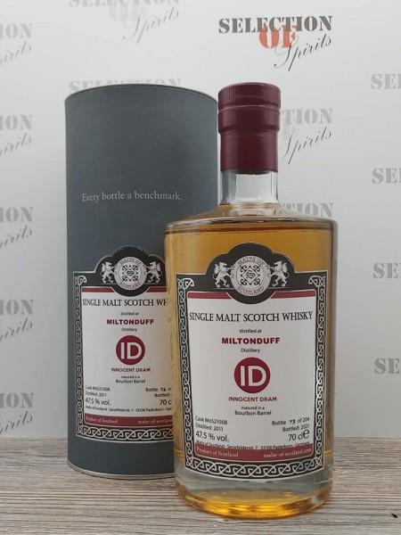 Malts of Scotland MILTONDUFF 2011/2021 ID Bourbon Barrel