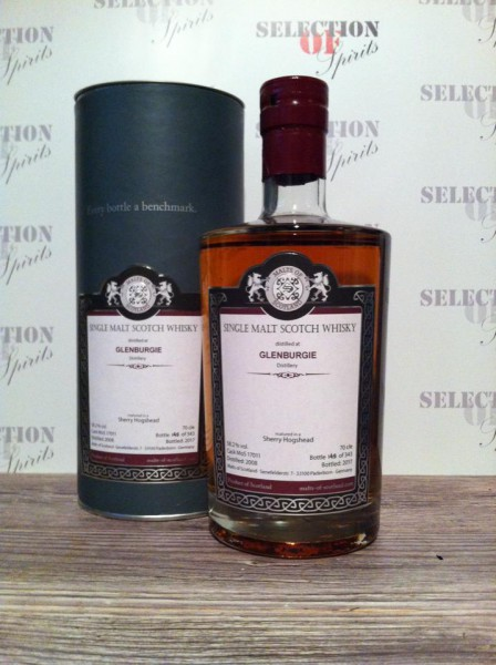 Malts of Scotland GLENBURGIE 2008 Sherry Hogshead
