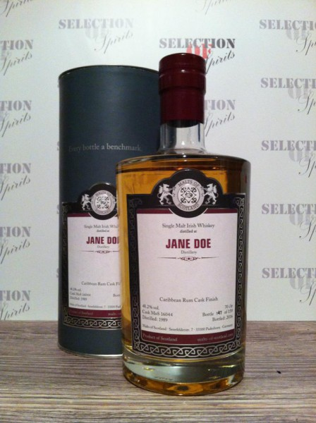"Malts of Ireland ""Jane Doe"" 1989/2016 -Carribbean Rum Cask Finish"