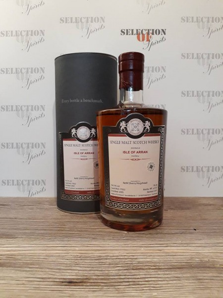 Malts of Scotland ISLE OF ARRAN 2005/2017 Refill Sherry Hogshead