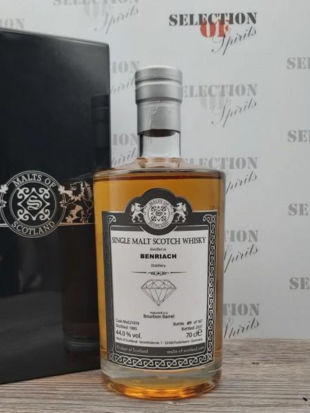 Malts of Scotland BENRIACH 1985/2021 Warehouse Diamond Bourbon Barrel