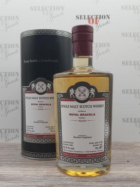 Malts of Scotland ROYAL BRACKLA 1998/2021 Bourbon Hogshead