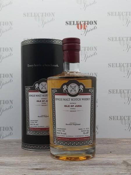 Malts of Scotland ISLE OF JURA 1992/2020 matured in a Bourbon Hogshead