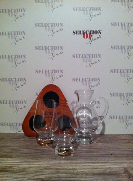 """Stölzle The Glencairn """"Wooden Flight Tray """"Whisky Tasting Set 2 Gläser + Pitcher"""