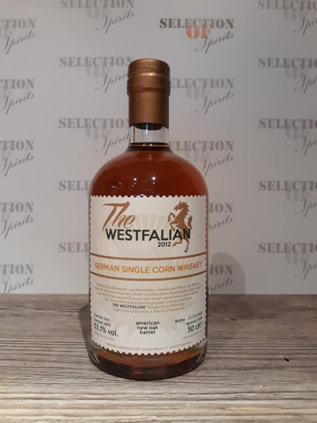 THE WESTFALIAN German Single CORN Whisky American new Oak Barrel