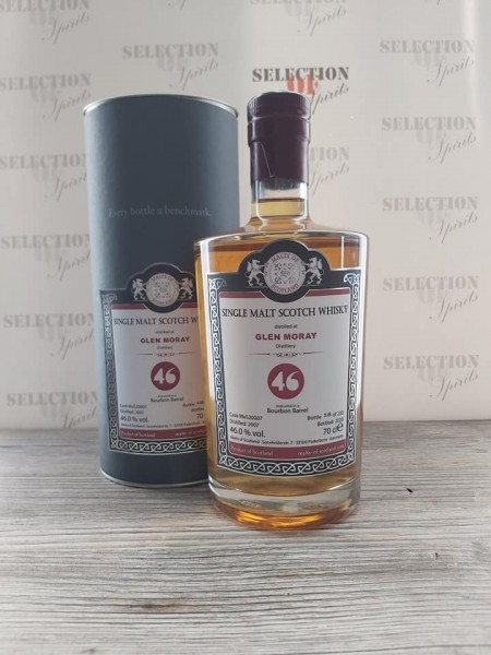 Malts of Scotland GLEN MORAY 2007/202046% Bourbon Barrel