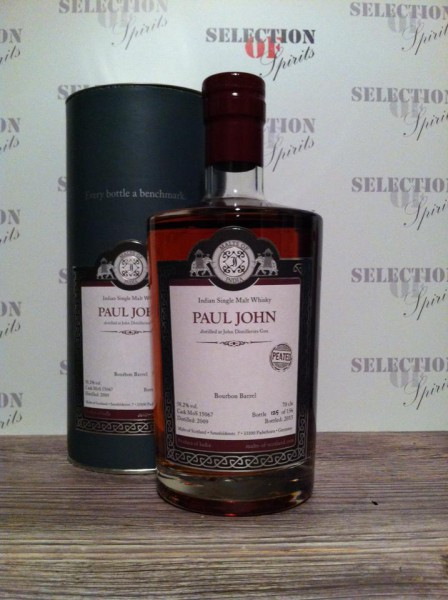 Malts of India Paul John Bourbon Barrel 2009/2015 -PEATED-