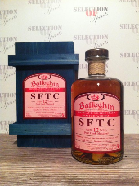 Ballechin Straight from the cask 12yo Port Cask Matured