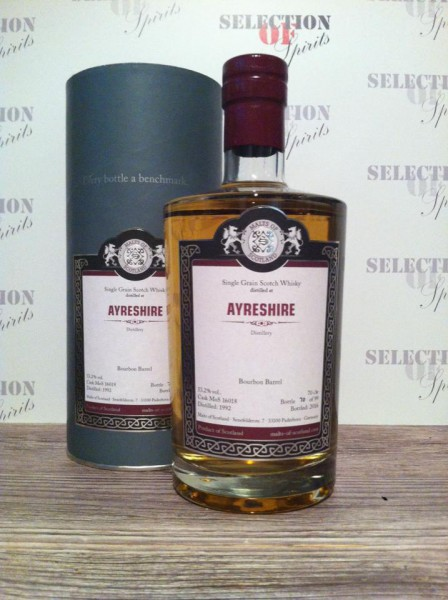 Malts of Scotland Ayreshire 1992/2016 Bourbon Barrel Single Grain