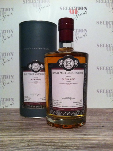 Malts of Scotland GLENBURGIE 1995/2017 Bourbon Hogshead